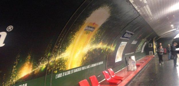 Pub alcool métro